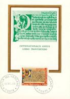 Vatikan CM Internationales Jahr Des Buches  5 Maxi-Karten - Cartes-Maximum (CM)