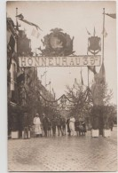 CPA PHOTO 76 DIEPPE Rue De La Barre Décorations Un Jour De Fête Honneur Au 39° Régiment Rare - Dieppe