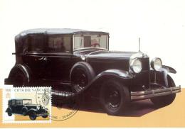 Vatikan CM Päpstliche Automobile  5 Maxi-Karten - Cartes-Maximum (CM)