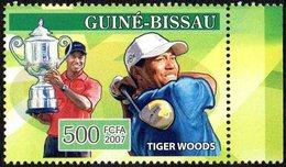 GUINEA BISSAU 2007 - CENTURY SPORTSMEN - GOLF - TIGER WOODS - MINT