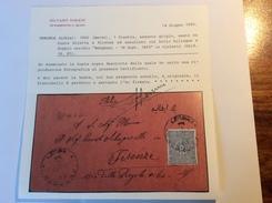 Turkey Used In Libya: BENGHAZI 1893 Cds Cover > Firenze Via Malta. Cert. Sorani, Ex. Hornung Coll. (Libye Libyen Lettre) - 1858-1921 Ottoman Empire