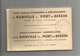 CARNET DE 18 CARTES DE LA ZONE ANGLO CANADIENNE DE DEBARQUEMENT DE RANVILLE A PORT EN BESSIN CALVADOS (PHOTOS CHEVROT) - Weltkrieg 1939-45