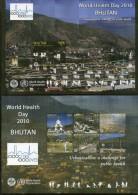Bhutan 2010 World Health Day WHO 1000 Cities Golf  Buddha Temple Buildings Architecture 2xM/s MNH # 15103 - Bhutan