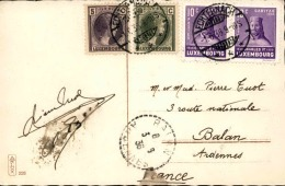 LUXEMBOURG - Oblitération De Echternach En 1936 Sur Carte Postale Pour Balan - A Voir - L 3012 - Covers & Documents