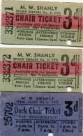 TICKET(M.W.SHANLY) LOT DE 3 - Tickets D'entrée