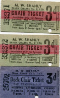 TICKET(M.W.SHANLY) LOT DE 3 - Tickets - Vouchers