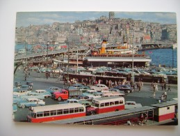 Istanbul  GALATA   BRIDGE   NAVE   SHIP     Turkiye Turkey  TURCHIA   NON  VIAGGIATA  COME DA FOTO - Turchia