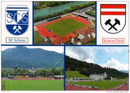 AK Stadion Postkarte Sportzentrum SC Schwaz Österreich Tirol Sportplatz Fußball Football Voetbal Calcio Terrain Foot - Fussball
