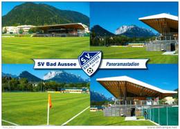 AK Panorama-Stadion Postkarte SV Bad Aussee Steiermark Ausseerland Fußball Platz Österreich Austria Autriche Football - Fussball