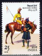 India 1978, Skinners Horse, Cavalry Regiment,  MINT MNH **  (Lot - 22 - 021) - India