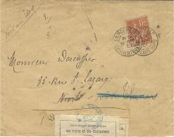 1901- Env. Affr. 15 C Mouchon De La Rochelle   Mise Au REBUT - Fermée Avec étiquette Et Cad Bleu RECLAMATIONS / M - 1877-1920: Période Semi Moderne
