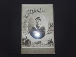 29 - BREST - PHOTOGRAPHIE SUR CARTON - Marin - Bateaux - Amiral Aube - Photographe INIZAN - Guerre, Militaire