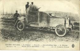GUERRE 1914 1918 DIXMUDE PASSAGE D UNE AUTO MITRAILLEUSE BELGE - Guerra 1914-18