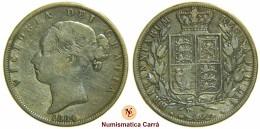 [NC] INGHILTERRA - MEZZA CORONA HALF CROWN VITTORIA 1884 (nc1774) - 1816-1901: 19. Jh.