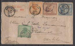 """Congo Belge - N° 106 - 107 - 110 Et 112 Oblitérés Sur Lettre Recommandée - """" Likasi Pour La France """"  1920"""