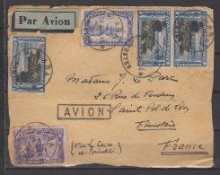 Congo Belge - N° 173 , 178 Et PA N° 3 X3  Oblitérés Sur Devant De Lettre  Par Avion - 1934