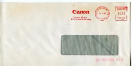 EMA Sciences,informatique CANON,Canon France SA,lot 3 Enveloppes,lettre Le Blanc Mesnil+Villeneuve D´Ascq 1984-85 - Computers