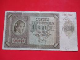 X1- 1000 Kuna 1941.NDH Croatia-Circulated - Croatie