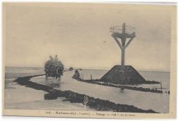 NOIRMOUTIER - PASSAGE DU GOA A MAREE BASSE - SUPERBE - VERS 1900 - Ile De Noirmoutier