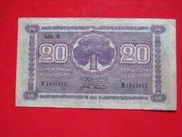 X1- 20 Markkaa 1939. Finland- Circulated - Finland