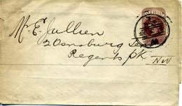 GRANDE BRETAGNE 1895 - LETTRE (half Penny)