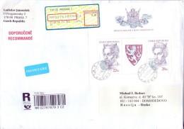 Mail Czech Republic In 2014 Russia Registered Letter. - Brieven En Documenten