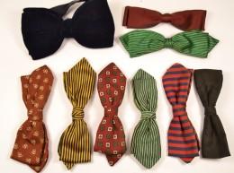 Lot De Noeuds Papillon Noeud Anciens, Retro, Rouge Vert Jaune Bleu Noir, Stylé Original Clips. Vintage Bow Tie - Accessoires