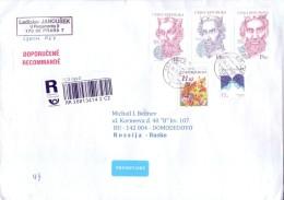 Mail Czech Republic In 2015 - Russia Registered Letter. - Tsjechië