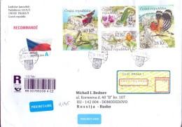 Mail Czech Republic In 2016 - Russia Registered Letter. - Brieven En Documenten