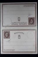 Italie Cartolina Postale Risposta Mi Nr 2 Unused - 1861-78 Victor Emmanuel II.