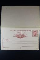 Italie Cartolina Postale Risposta Mi Nr P 21 Unused  1890 - Postwaardestukken