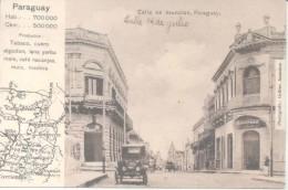 CALLE 14 DE JULIO - ASUNCION DEL PARAGUAY AUTOMOBILES CPA VOYAGEE 1926 A ELSA OTERO EN BARRACAS AL NORTE BARRIO DE BUENO - Paraguay