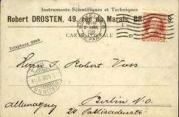 BELGIQUE - Carte Commerciale De Bruxelles Pour L ' Allemagne En 1908 - A Voir - L 3087 - 1905 Thick Beard