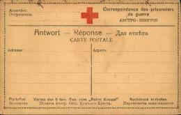 FRANCE - Carte Réponse Croix Rouge Pour Prisonnier De Guerre - A Voir - L 3091 - Marcophilie (Lettres)