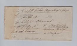 Heimat Polen OLSZANICA 1845-10-29 Vorphila Brief Ohne Inhalt - Portugal