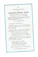 1768 - Doodsprentje  - MARTINE RAES - OOSTENDE 1957 + 1958 - Images Religieuses