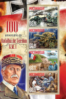 DELUXE IMPERF Mozambique 2016 Battle Of Verdun 100th Aniv War Military Planes Tank S/S MOZ16221 - Persönlichkeiten