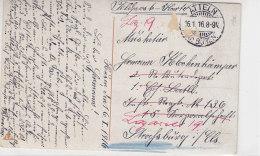 Feldpost Aus ATTELN Kr. Büren 16.1.16 Ins Lazarett Nach Strassburg - Deutschland