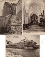 BONIFACIO - 3 CPA - Phare De La Maonetta, Le Pont Levis, Eglise St Dominique (91414) - Autres Communes