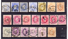 Léopold II, Entre 29 Et 37a, Nombreuses Nuances De Couleur,  Cote 213 €, - 1869-1883 Leopoldo II