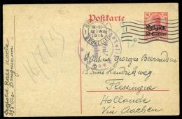 Deutsches Reich Besetzung Belgien 1915 Von Brussel Via Aachen Nach Holland - Besetzungen 1914-18