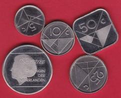 Aruba - Lot De 5 Monnaies - Neuves - Monnaies