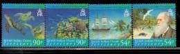 2007 British Indian Ocean Territory Darwin Turtle  Complete Set Of 4  MNH - Britisches Territorium Im Indischen Ozean