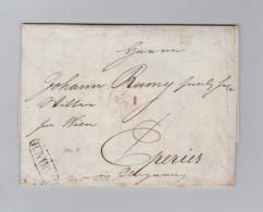 Heimat Slovenien LAIBACH 1825-07-14 Vorphila Brief Nach Eperies - Slovénie