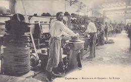 Cpa-11-esperaza--manufacture De Chapeaux-le Bridage-personnages - France