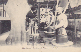 Cpa-11-esperaza--manufacture De Chapeaux-le Pannage-personnages - France