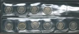BELGIQUE 1989-1993 MORIN 834-843 FLEURS DE COIN 1 FRANC/FRANK - 1951-1993: Baudouin I