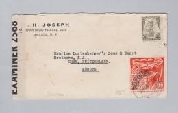 Mexico 1942-08-21 Zensur Brief Nach Cham ZG - Mexico