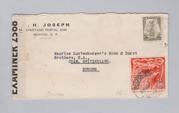Mexico 1942-08-21 Zensur Brief Nach Cham ZG - Mexique
