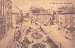 CROATIA-HRVATSKA  Rijeka - Fiume Piazza Elisabetta, Tramway - Tranvía